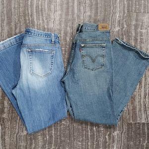 Bundle of 2 bootcut 10 short/ ankle jeans